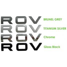 Gloss Black Bonnet lettering for RANGEROVER Vogue L405 logo badge upgrade Curved
