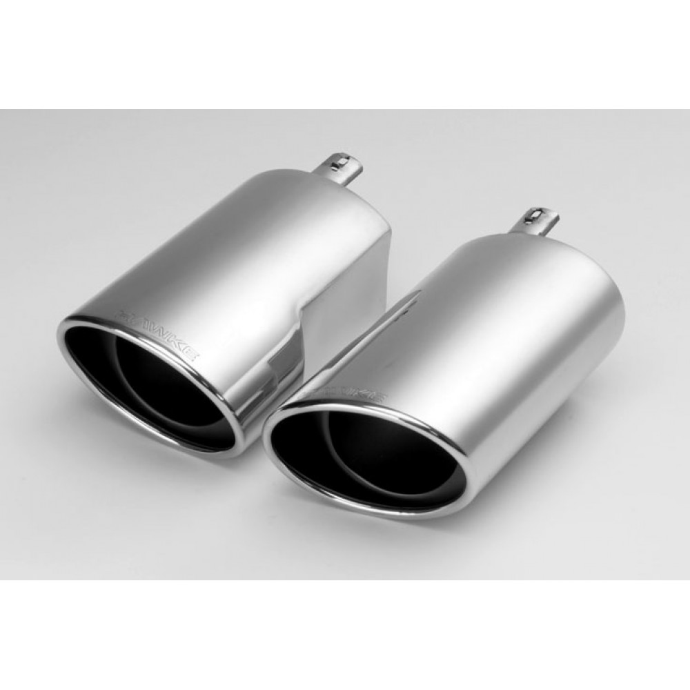 Stainless Steel Bolt on Exhaust Tips 1 PAIR for Range Rover Sport 05-09 TDV6