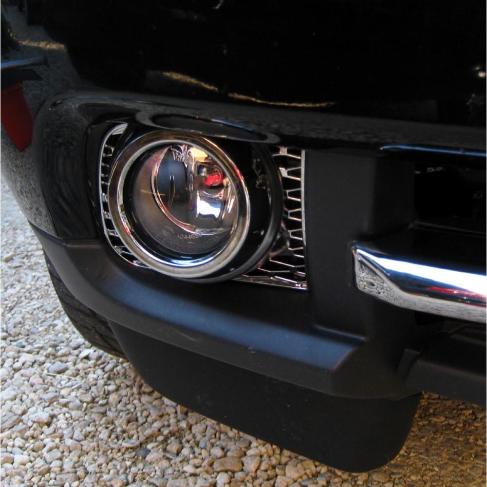 Chrome fog light surround Range Rover L322 2010  front bumper lamp insert