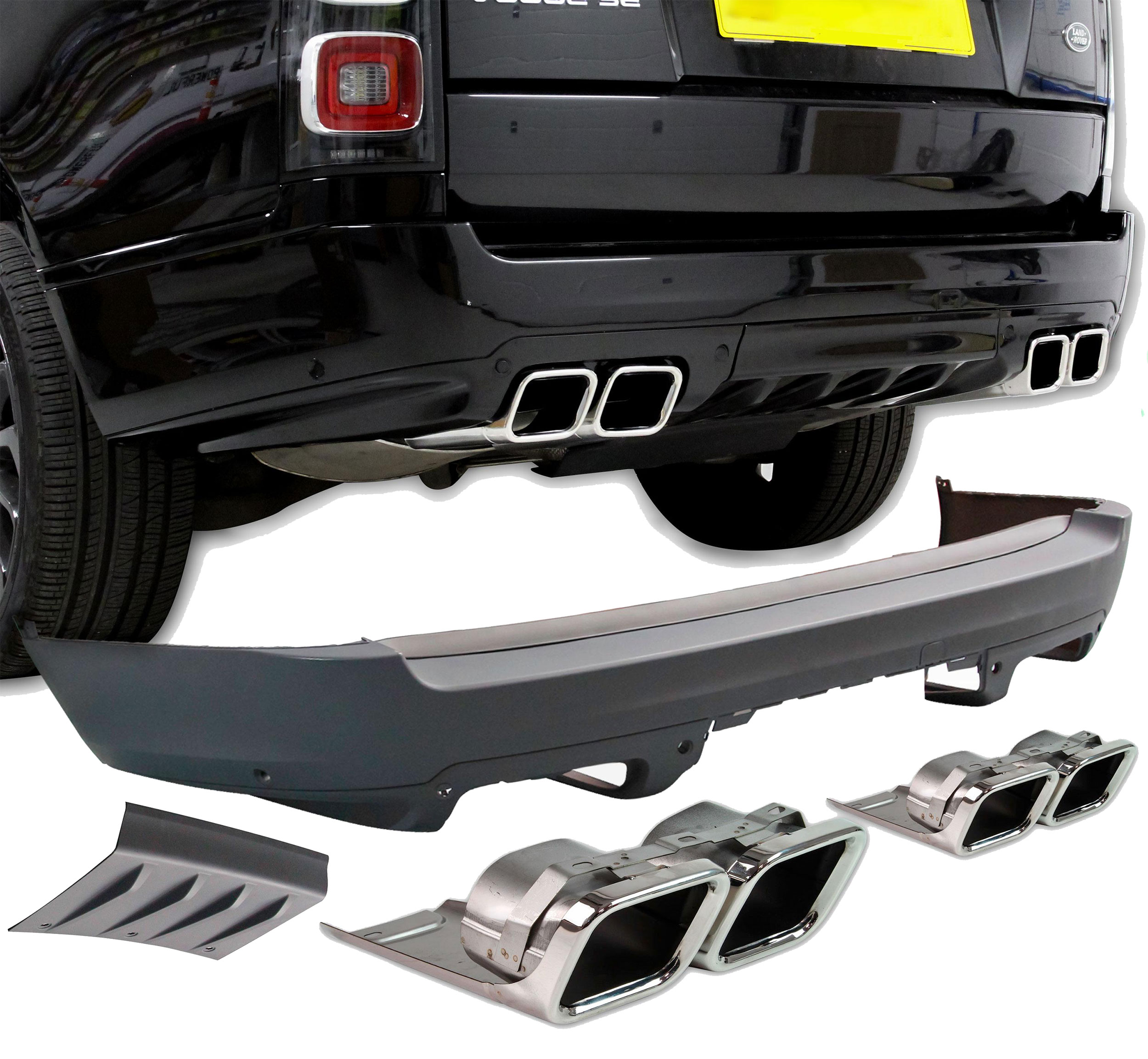 Now available: Range Rover L405 - SVO Style Rear Bumper Upgrade Kit