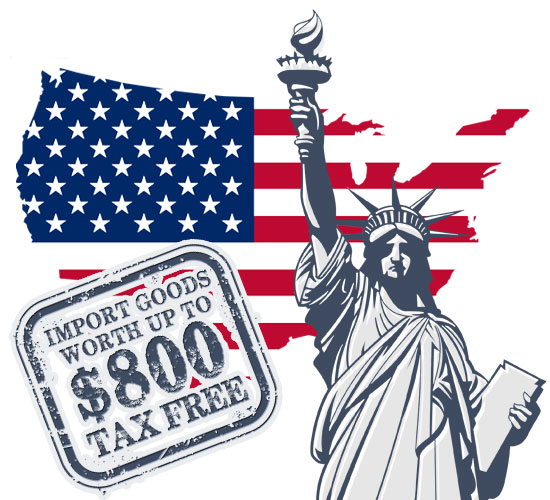 News: US tax free import value increased to $800!
